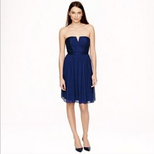 J. Crew Nadia Navy Silk Dress Party Bride